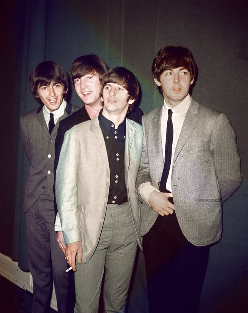 The British rock and roll group The Beatles are seen during their first U.S. tour in this 1964 file photo. The band members, from left to right, are George Harrison, John Lennon, Ringo Starr and Paul McCartney. (Photo by AP Photo)