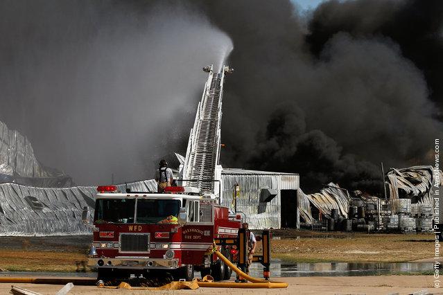 Massive Chemical Fire Rages Near Dallas