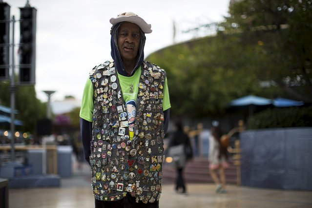 Guest Ben Green poses for a portrait during Disneyland's Diamond Celebration in Anaheim, California May 22, 2015. (Photo by Mario Anzuoni/Reuters)