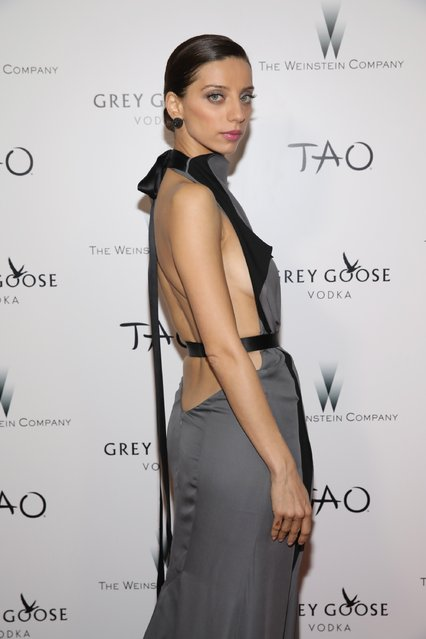 Actress Angela Sarafyan attends The Weinstein Company's Academy Awards viewing and after party in partnership with Grey Goose at TAO Los Angeles at TAO Hollywood on February 26, 2017 in Los Angeles, California. (Photo by Rachel Murray/Getty Images for The Weinstein Company)