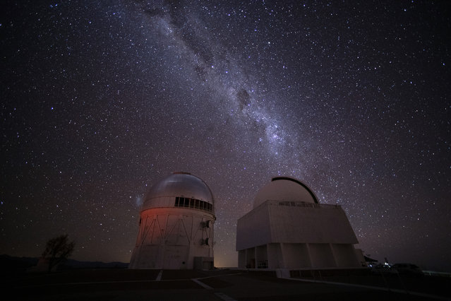 The Milky Way rises over Cerro Tololo Observatory in Chile on July 2, 2019. (Photo by UPI/Barcroft Media)