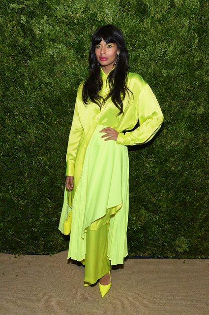 Jameela Jamil attends the CFDA / Vogue Fashion Fund 2019 Awards at Cipriani South Street on November 04, 2019 in New York City. (Photo by Jamie McCarthy/Getty Images)