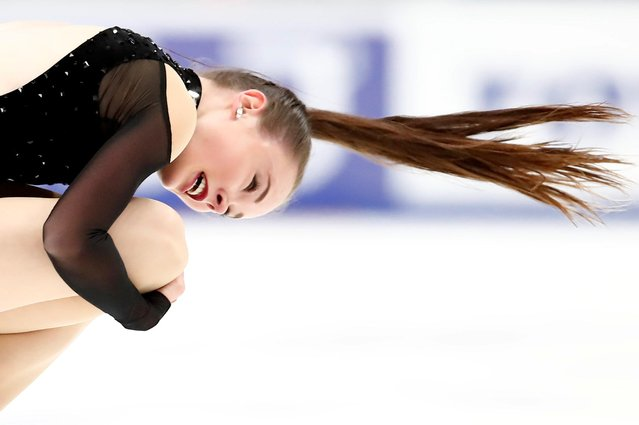 Mariah Bell of the United States competes in the Ladies Short Program during day 1 of the ISU Grand Prix of Figure Skating Rostelecom Cup at Megasport Arena on November 15, 2019 in Moscow, Russia. (Photo by Maxim Shemetov/Reuters)