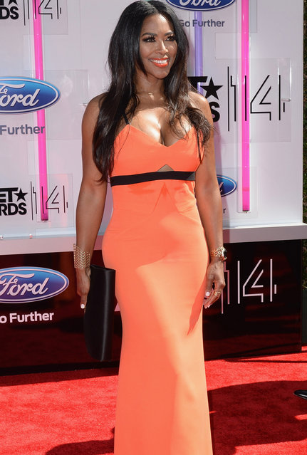 Actress Kenya Moore attends the BET AWARDS '14 at Nokia Theatre L.A. LIVE on June 29, 2014 in Los Angeles, California. (Photo by Earl Gibson III/Getty Images for BET)
