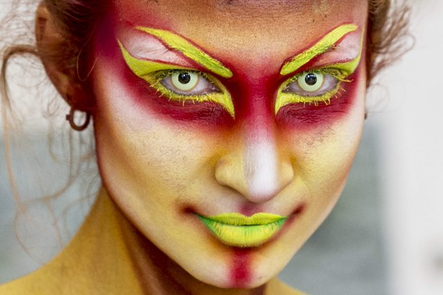 A model poses for a picture during the 20th World Bodypainting Festival 2017 on July 30, 2017 in Klagenfurt, Austria. (Photo by Jan Hetfleisch/Getty Images)