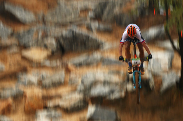 Peter Sagan of Slovakia rides during the Men's Cross-Country on Day 16 of the Rio 2016 Olympic Games at Mountain Bike Centre on August 21, 2016 in Rio de Janeiro, Brazil. (Photo by Dean Mouhtaropoulos/Getty Images)