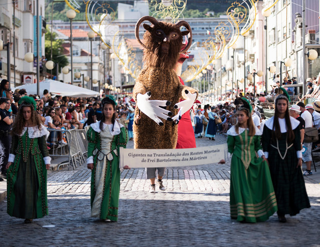 The second day of the Festival of Our Lady in Viana do Castelo, Sorrow, one of the oldest and most distinctive galas of northern Portugal, August 22, 2016. (Photo by Barcroft Images)