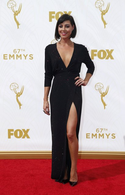 Actress Aubrey Plaza arrives at the 67th Primetime Emmy Awards in Los Angeles, California September 20, 2015. (Photo by Mario Anzuoni/Reuters)