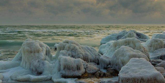 """I See Sea"" by Dmytriy Dokunov. The frozen Black Sea. Odessa, Ukraine; January, 2012. (Photo by Дмитрий Докунов)"