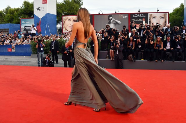 """Sistine Rose Stallone attends the premiere of """"Hacksaw Ridge"""" during the 73rd Venice Film Festival at Sala Grande on September 4, 2016 in Venice, Italy. (Photo by Pascal Le Segretain/Getty Images)"""