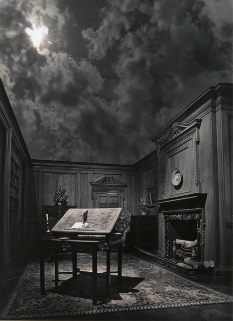 """Untitled"" by Jerry N. Uelsmann, 1976. Uelsmann revived the technique of combination printing pioneered by such Victorian art photographers as Oscar Gustave Rejlander and Henry Peach Robinson in the early 1960s, when darkroom manipulation was denigrated by many proponents of straight photography as a flagrant violation of photographic purity. (Photo courtesy of The Metropolitan Museum of Art)"