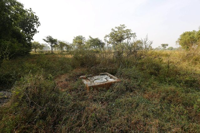An open toilet is seen in a field in Gorba in the eastern Indian state of Chhattisgarh, India, November 16, 2015. (Photo by Adnan Abidi/Reuters)