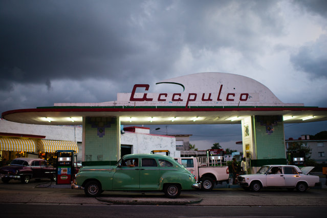 A gas station in Havana, Cuba is pictured on August 16, 2015. (Photo by Sarah L. Voisin/The Washington Post)