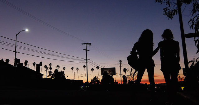 "This photo provided by courtesy of the Sundance Institute shows a scene from the film, ""Tangerine"", directed by Sean Baker. (Photo by AP Photo/Sundance Film Institute)"