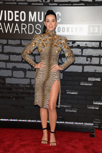 Katy Perry attends the 2013 MTV Video Music Awards at the Barclays Center on August 25, 2013 in the Brooklyn borough of New York City. (Photo by Jamie McCarthy/Getty Images for MTV)
