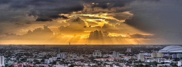 """Golden Hour Rays"". Miami, 2013. (Photo by lostINmia)"