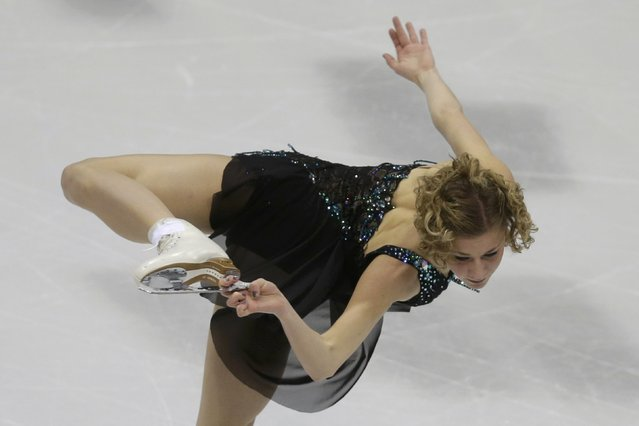 Laurine Lecavelier of France performs during the ladies short program at the ISU European Figure Skating Championship in Bratislava, Slovakia, January 27, 2016. (Photo by David W. Cerny/Reuters)