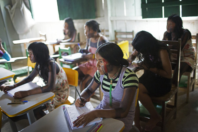 School in the village of Poti-Krô is taught in Portuguese, rather than their native tongue Je. (Taylor Weidman)