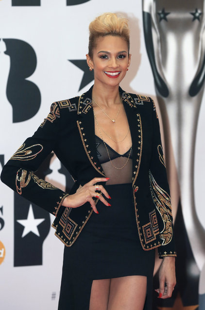 Singer Alesha Dixon arrives at the BRIT Awards at the O2 arena in London, February 24, 2016. (Photo by Paul Hackett/Reuters)