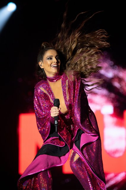 English singer, dancer and television personality Cheryl performs on the Main Stage during Mighty Hoopla 2021 at Brockwell Park on September 4, 2021 in London, England. (Photo by PA Wire Press Association)