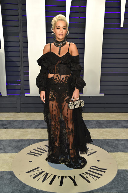 Rita Ora attends the 2019 Vanity Fair Oscar Party hosted by Radhika Jones at Wallis Annenberg Center for the Performing Arts on February 24, 2019 in Beverly Hills, California. (Photo by John Shearer/Getty Images)