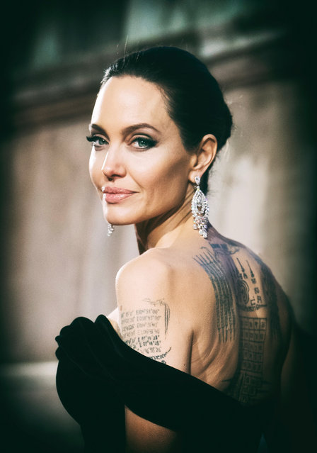 Angelina Jolie at the Bafta film awards held at the Royal Albert Hall in London on 18 February 2018. (Photo by Samir Hussein/Wireimage)