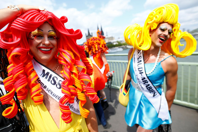 Participants take part in the annual Christopher Street Day (CSD) Gay Pride parade, in Cologne, Germany on July 7, 2019. (Photo by Thilo Schmuelgen/Reuters)