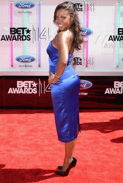 Actress Nadine Ellis  attends the BET AWARDS '14 at Nokia Theatre L.A. LIVE on June 29, 2014 in Los Angeles, California. (Photo by Earl Gibson III/Getty Images for BET)