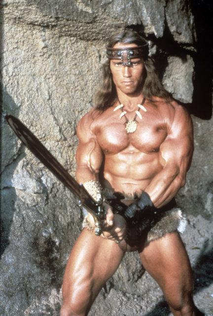 Austrian-born American actor, film producer and politician Arnold Schwarzenegger in the film Conan the Destroyer. Mexico, 1984. (Photo by Mondadori Portfolio via Getty Images)
