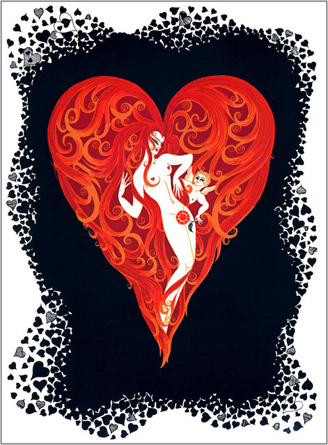Romain de Tirtoff (Erte) – The Aces: Hearts