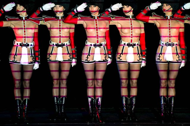 Dancers perform during the cabaret burlesque show Crazy Horse – Forever Crazy show in Rotterdam, The Netherlands, on September 19, 2014. (Photo by Robin van Lonkhuijsen/AFP Photo/ANP)