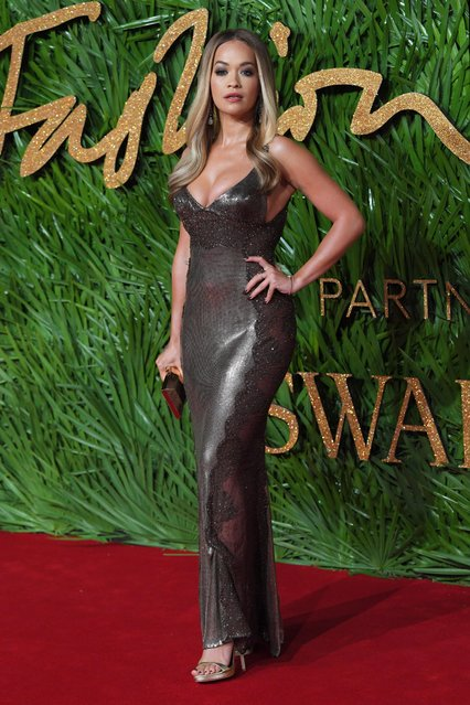 Rita Ora attends The Fashion Awards 2017 in partnership with Swarovski at Royal Albert Hall on December 4, 2017 in London, England. (Photo by David Fisher/Rex Features/Shutterstock)
