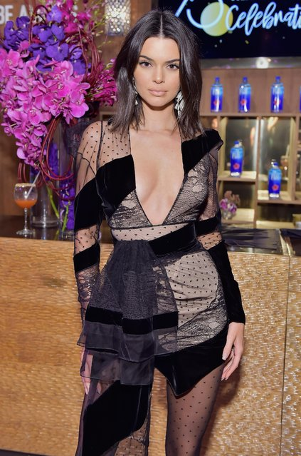Model Kendall Jenner attends FIJI Water at HFPA's Official Viewing and After-Party at the Wilshire Garden inside The Beverly Hilton on January 7, 2018 in Beverly Hills, California. (Photo by Stefanie Keenan/Getty Images for FIJI Water)