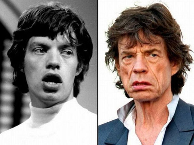 Rock Star Then And Now