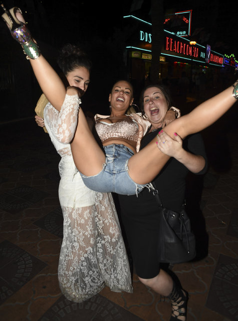 Geordie Shore babe Chantelle Connelly enjoys a wild night out in Benidorm, Spain on September 20, 2016 which ended at a strip club with a group of girls for her sisters birthday. (Photo by Danny Ryan/iCelebTV.com)