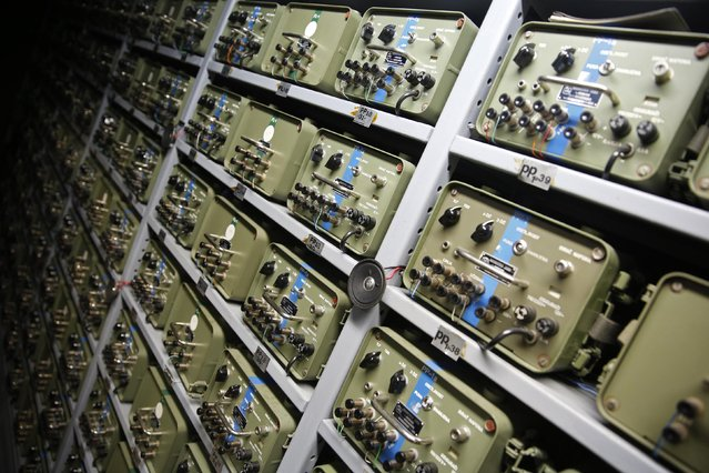 Switchboards for telecommunications are seen in Tito's underground secret bunker (ARK) in Konjic October 16, 2014. (Photo by Dado Ruvic/Reuters)