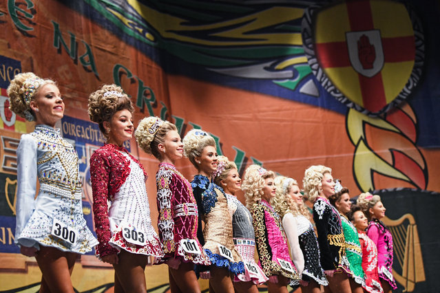 Competitors take part in day three of the World Irish Dancing Championships on March 26, 2018 in Glasgow, Scotland. (Photo by Jeff J. Mitchell/Getty Images)