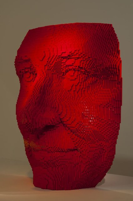 """A red mask"". (Photo by Nathan Sawaya/The Art of the Brick)"