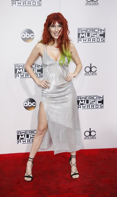 Dani Thorne arrives at the 2016 American Music Awards in Los Angeles, California, U.S., November 20, 2016. (Photo by Danny Moloshok/Reuters)