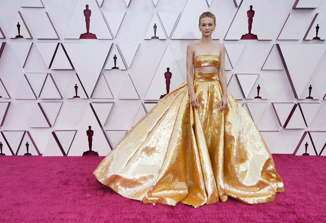 Carey Mulligan attends the 93rd Annual Academy Awards at Union Station on April 25, 2021 in Los Angeles, California. (Photo by Chris Pizzelo-Pool/Getty Images)