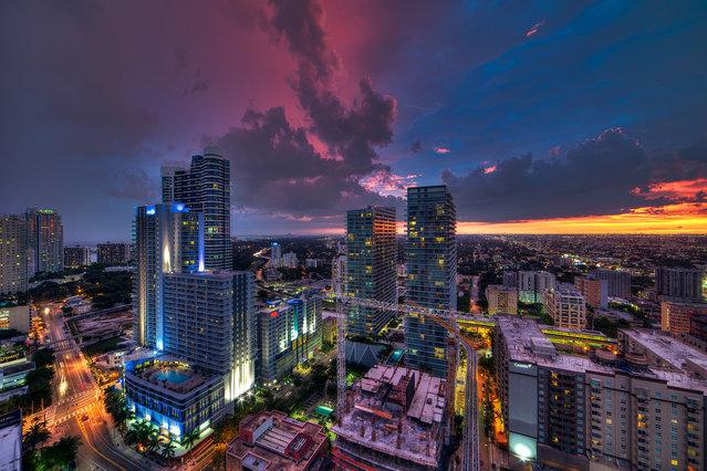 """Half and half"". Miami, 2013. (Photo by lostINmia)"