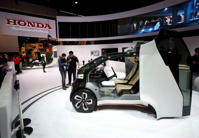 A Honda MEU-V, an electric, autonomous concept vehicle, is displayed during the 2017 CES in Las Vegas, Nevada January 5, 2017. (Photo by Steve Marcus/Reuters)