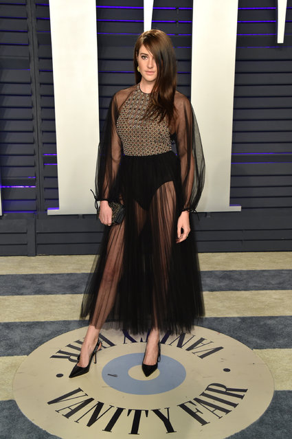 Shailene Woodley attends the 2019 Vanity Fair Oscar Party hosted by Radhika Jones at Wallis Annenberg Center for the Performing Arts on February 24, 2019 in Beverly Hills, California. (Photo by John Shearer/Getty Images)