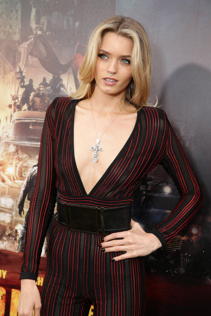 "Abbey Lee seen at the Warner Bros. premiere of ""Mad Max: Fury Road"" on Thursday, May 7, 2015, in Los Angeles. (Photo by Eric Charbonneau/Invision for Warner Bros./AP Images)"