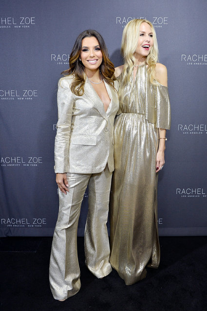 Eva Longoria and Rachel Zoe attend Rachel Zoe's Los Angeles Presentation at Sunset Tower Hotel on February 6, 2017 in West Hollywood, California. (Photo by Stefanie Keenan/Getty Images for Rachel Zoe)