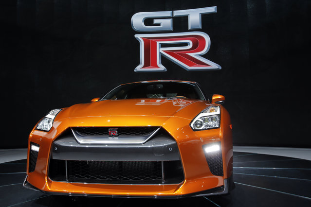 The 2017 Nissan GT-R sits on display during the media preview of the 2016 New York International Auto Show in Manhattan, New York on March 23, 2016. (Photo by Eduardo Munoz/Reuters)