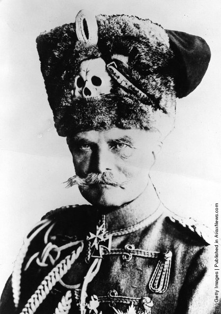 1914: German soldier August von Mackensen. He drove the Russians from Warsaw and became de facto ruler of Romania until the armistice