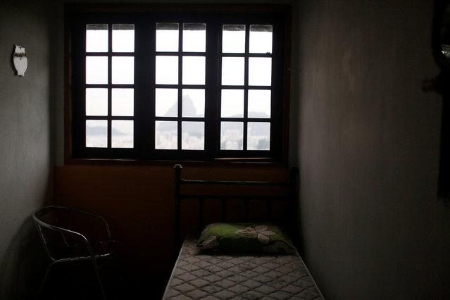 A room at Pousada Favelinha (Little favela) hostel is seen in Pereira da Silva favela, in Rio de Janeiro, Brazil, April 29, 2016. (Photo by Pilar Olivares/Reuters)