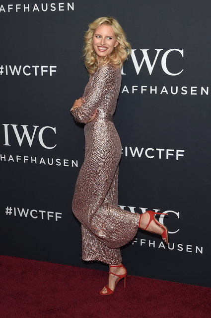 "Model Karolina Kurkova attends the exclusive gala event ""For the Love of Cinema"" during the Tribeca Film Festival hosted by luxury watch manufacturer IWC Schaffhausen on April 20, 2017 in New York City. (Photo by Jamie McCarthy/Getty Images for IWC)"