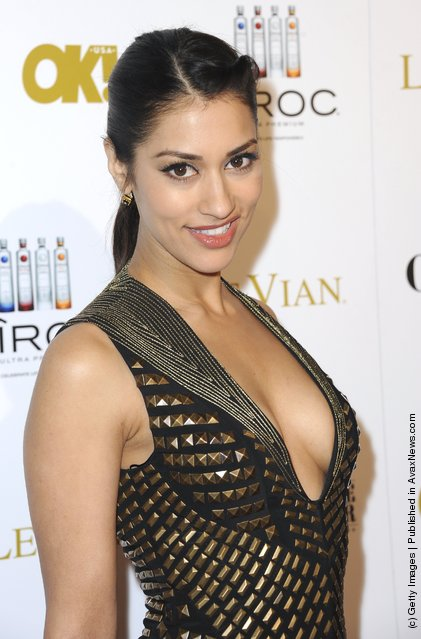 Actress Janina Gavankar attends OK! Magazine Pre-Oscar Party - Arrivals at Greystone Manor Supperclub